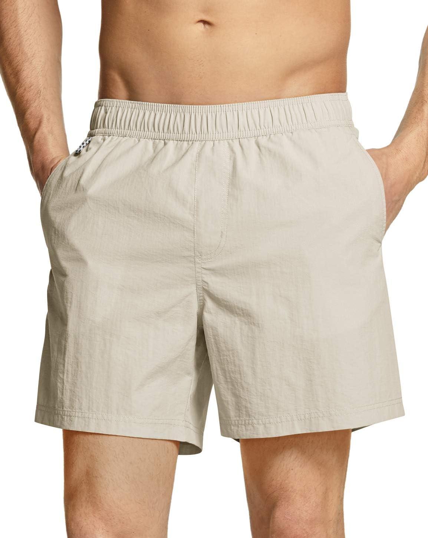 TSLA Men's Swim Trunks Quick Dry Water Beach Swimsuit Board Wave Shorts