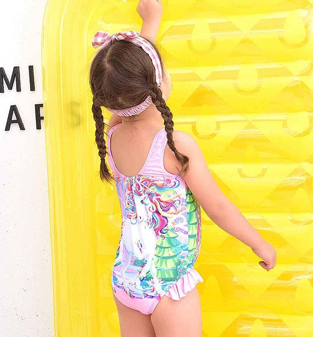LANTOP Girl Bathing Suit Unicorn Ruffle Swimwear One Piece Swimsuit More Comfortable