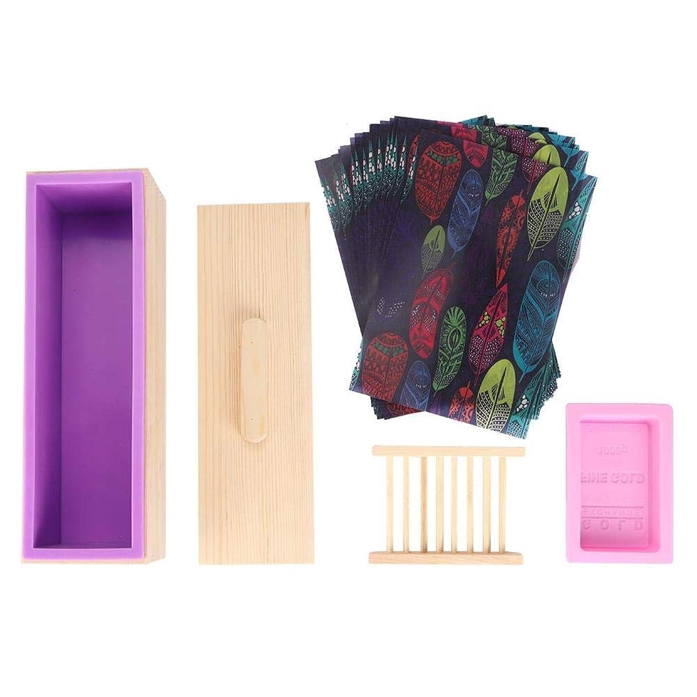 罰呼吸ねばねばSalinr ソープカッター 石けん金型ソープロープ カッター 紫色のシリコントースト木箱 石鹸カッターモールド石鹸ロープモールド カッター ソープカッターボックス家庭用ツール ツールDIY 手作り