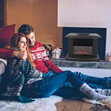 Goodtimera - Chimenea eléctrica para estufa eléctrica, estufa, simulación de llama, potencia de 1000 W, ventilador ajustable, termostato integrado AVCE