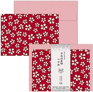 エムプラン レターセット ミニレター 5冊 日本の風情 五弁桜 117248-71/5P