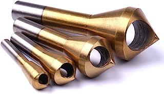Atoplee 4pcs Titanium Deburring Tool Countersink Bit for Steel Wood