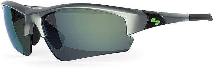 Sundog Clutch Sungl, Shiny Pearl Grey Frame/Smoke Yellow Mirror