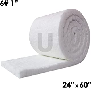 """UniTherm Ceramic Fiber Insulation Blanket Roll, (6# Density, 2300°F)(1""""x24""""x60"""") for Kilns, Ovens, Furnaces, Forges, Stoves and More!"""