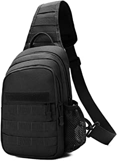 Tactical Sling Bag,Chest Shoulder Small Backpack,Casual Satchel Day Pack