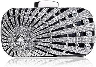Fine Bag/Evening Bags Formal Clutch Purse Crystal Handbag for Women Banquet Bag (Color : Black, Size : One Size)