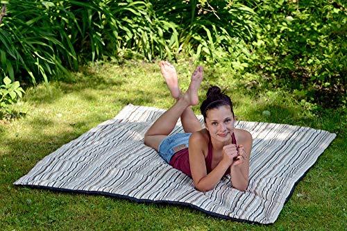 AMAZONAS Picknickdecke Molly Cacao 175 cm x 135 cm