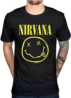 Men's Official Nirvana Smiley T-Shirt Rock Band Alternative Kurt Cobain