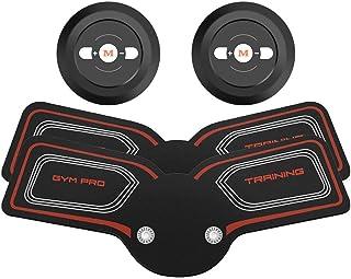 EMS ABSトレーナー、腹部調色ベルト、EMSマッスルスティミュレーター、マッスルトナーフィットネストレーニングギア(男性用)女性腹部アームレッグトレーナー(オフィス用) (Color : Red, Size : 2B)