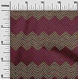 oneOone Baumwoll-Popeline-Twill Stoff Winkel Geometrisch