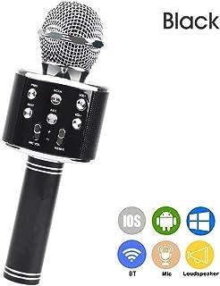 Decdeal WS-858 Portable Wireless Karaoke Microphone Handheld Cellphone Karaoke Player Built-in BT HIFI Speaker Selfie 3-in...
