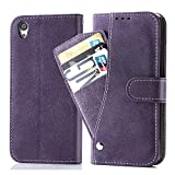 Asuwish Sony Xperia XA Wallet Case,Leather Phone Cases with Credit Card Holder Slot Kickstand Stand Slim Full Body Flip Folio Protective Cover for Sony Xperia XA Women Men Girls Purple