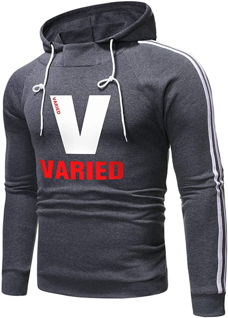Mens Sweatshirt,WYTong VARIED Letter Print Pullover Long Sleeve Casual Top Blouse Tracksuits
