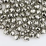 Faxco 300Pcs 13mm/0.5inch Jingle Bells, Craft Bell,DIY Bells for Christmas Decoration & Party & Festival Decorations (Silver)