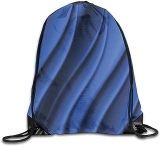 Drawstring Backpack Sports Gym Bag Bulk Bags Cinch Sacks Pull String Bags,Ocean Waves Inspired Design With Digital Reflection Aqua Sea Abstract Artwork,for Women Men Children Large Size