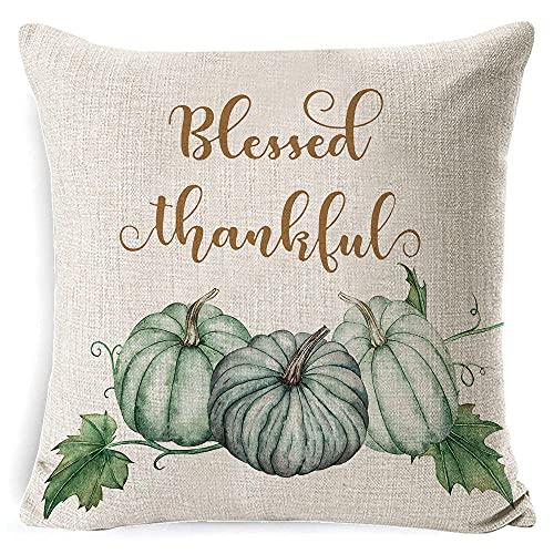 Almohada con patrón de acción de Gracias, Almohada Creativa de impresión 3D, decoración del hogar, Almohada para sofá de jardín para Sala de Estar, Incluido el núcleo de la Almohada