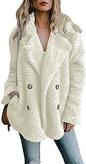 DaiWeiDress Mujer Abrigo Mullido Piel sintética Chaqueta de Oso de Peluche