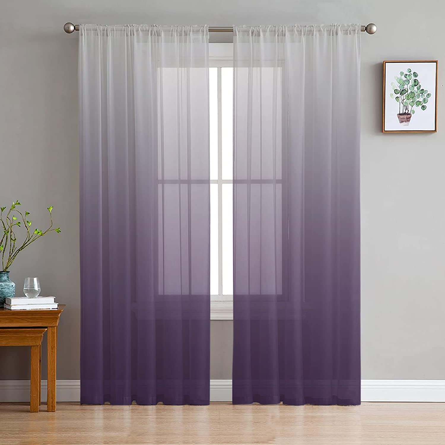 Printed House Discount is also underway Sheer Curtains Panels Rod Selling rankings Semi Pocket Voile