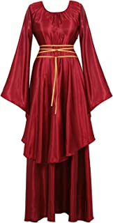 Womens Medieval Renaissance Costume Cosplay Victorian Vintage Retro Gown Long Dress