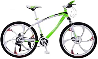 Home Equipment Bike Mountain Bike Bicycle Adult Road Bicycles For Men And Women 24/26In Wheels Adjustable Speed Double Dis...