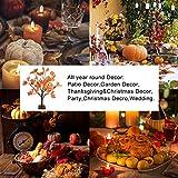 24 LEDs Ahornblatt Baum Licht, 50cm Schreibtisch Ahorn-Blätter (Herbst) Baumlicht Warmweiß,Herbst Dekoration Blätter Lichterketten für Thanksgiving, Weihnachten, Innen Deko - 5