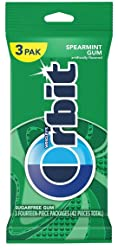 Wrigley Gum Orbit Sugar Free Spearmint Chewing Gum, 42 ct