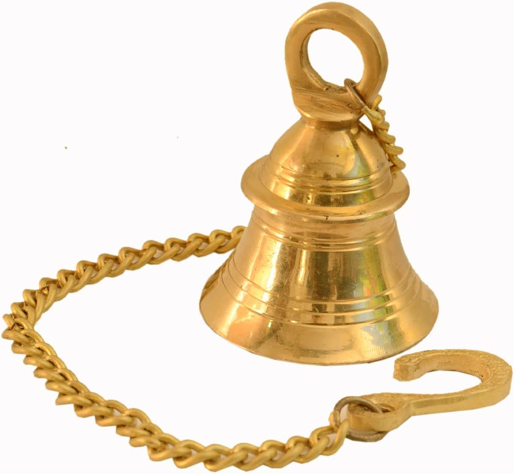 Purpledip Small Hanging Bell: Solid Brass Bell Sound Price reduction New mail order with Deep