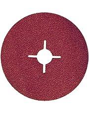 25/50 stuks vezelschijven 115 125 180 mm korrel 24-180 schuurpapier schuurpapier voor haakse slijper (25 x DM 180 mm korrel = 100)