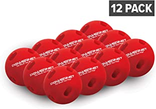 PowerNet Crushers Limited Flight Training Baseballs 12 PK | Wiffle Style Batting Practice Ball for Pre-Game Warm Ups and Hitting Drills | Instant Batter Feedback Get Launch Angle and Hit Direction