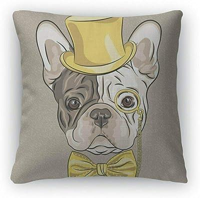 Amazon.com: Cojín cuadrado decorativo, diseño de perro ...