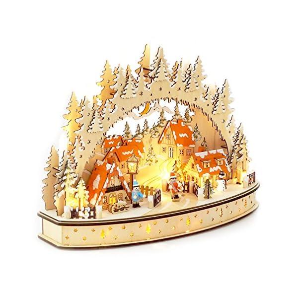 Wichtelstube-Kollektion-LED-Schwibbogen-Oval-Weihnachtsdorf-Lichterbogen-Schwippbogen