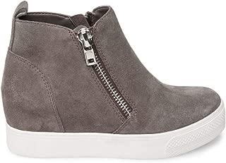 Women's Wedgie Sneaker, Grey Suede, 7.5 M US