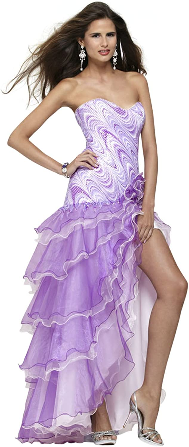 Clarisse Strapless Drop Waist Ruffle Prom Dress 2171