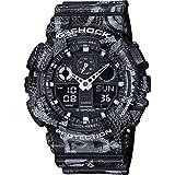 G-Shock ga-100mrb-1a x Marcelo Burlon orologio di lusso–grigio e nero/Taglia unica