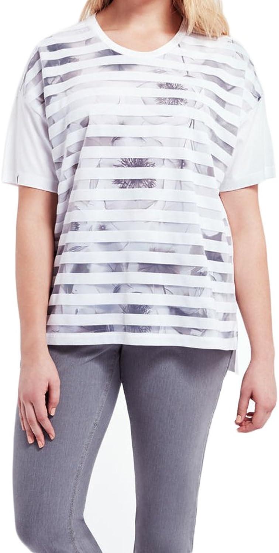 Marina Rinaldi Women's Valigia HiLow TShirt Grey White