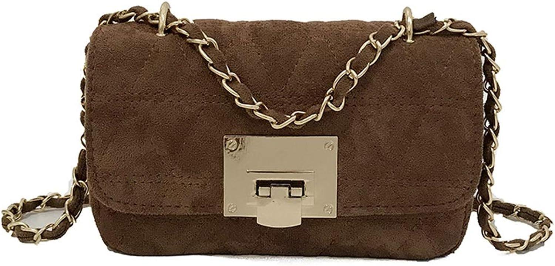 FUBULECY Mini Scrub-Paket für Frauen, Schultertaschen, Schultertaschen, Schultertaschen, Crossbody-Tasche aus PU-Leder (Farbe   braun) B07KF6B383  Markenschmaus 33540d