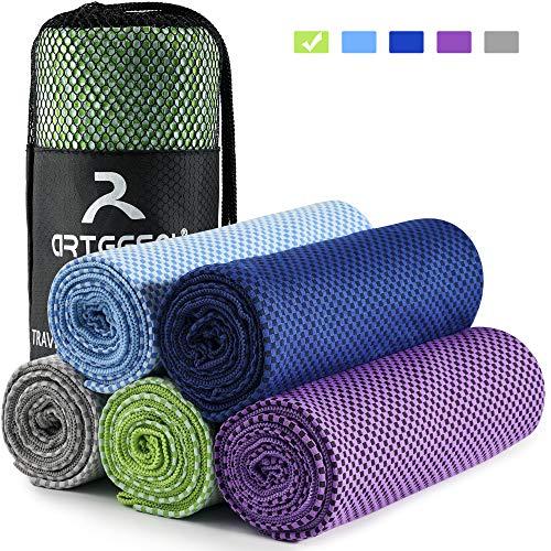 arteesol Mikrofaser Handtuch Handtücher für Sport Fitness Sauna Microfaser Badetuch, Reisehandtuch schnelltrocknend & saugstark (52 * 100cm, Grün)
