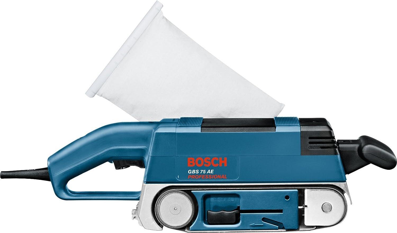 Bosch Bandschleifer GBS 75 AE 750 W Grafitplatte Staubsack Koffer 0601274707