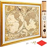 My New Lands Ancient History Gold Scratch Off Map of The World,...