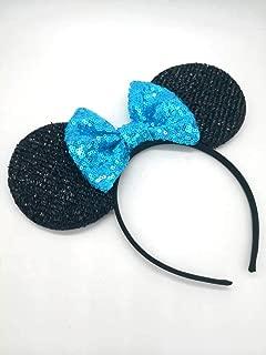 Blue Mickey Ears, Rainbow Minnie Mouse Ears, Sparkly Minnie Ears, Mouse Ears, Electrical Parade Ears
