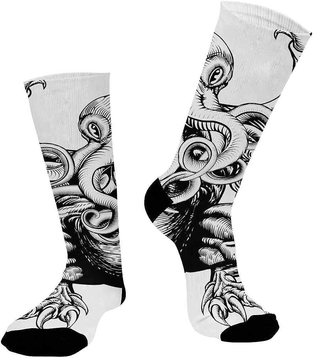 INTERESTPRINT Unisex Outdoor Sports Athletic Hiking Socks Cthulhu Monster