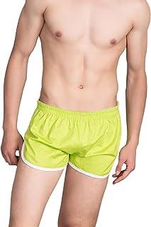 US L:Waist:34-38 iYunyi Mens Home Shorts Cotton Plaid Loose Boxer Underwear Sleep Bottoms Tag XL , Lightblue Palid
