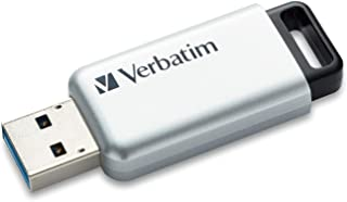 Verbatim 128GB Store 'n' Go Secure Pro USB 3.0 Flash Drive, Silver