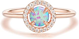 PAVOI 14K Gold Plated Rose Gold Ring Opal Ring | Rings for Women