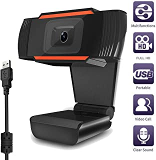 HD Webcam 1080P PC with Microphone Webcam USB Desktop and Laptop Webcam with Microphone Widescreen Live Streaming Webcam HD Video Webcam Noise Reduction Desktop, Conference, Video Chat (Black)