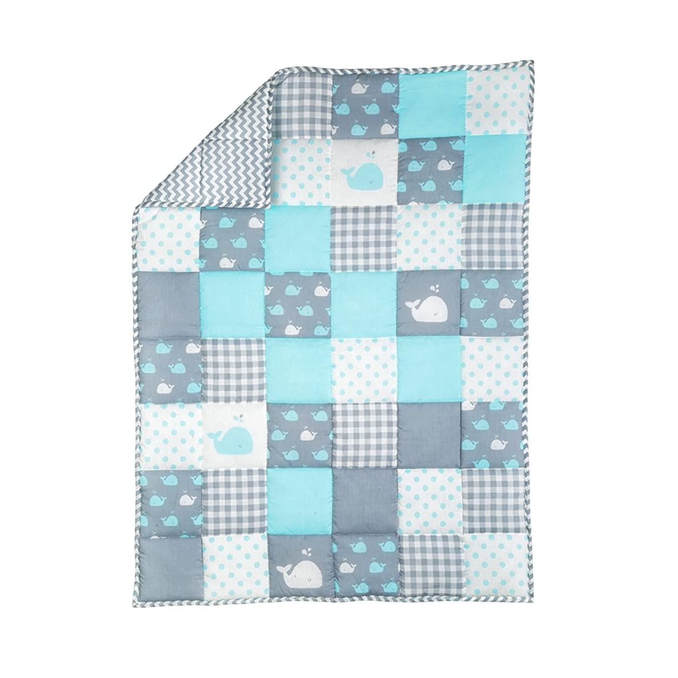 Plush Toddler Blanket - Soft Cot Comforter for Boys and Girls Pure Cotton Baby Cradle Quilt - Baby Blue - 38 X 50 Inches