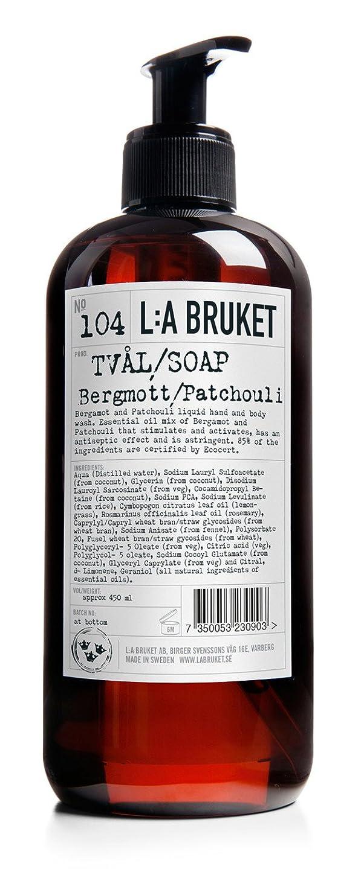 樹皮プレゼンター平野L:a Bruket (ラ ブルケット) ハンド&ボディウォッシュ (ベルガモット?パチョリ) 250g
