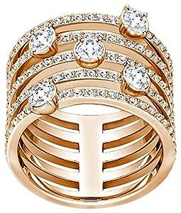 Swarovski Women's Ring Creativity Wide Ring Crystal White, Size: 50 (15.6)/5221424