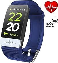 FitONE by J Q1S ECG+PPG Heart Rate FitnessTracker Smart Bracelet Blood Pressure with Sleep Sport Waterproof Smart Watch for Men Women