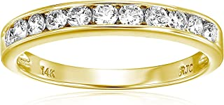 Best yellow gold diamond wedding band Reviews